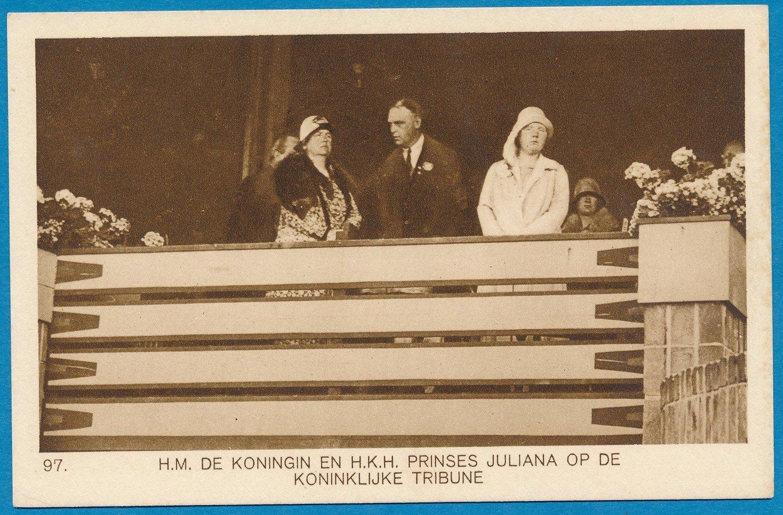 OLYMPIADE Amsterdam 1928 kaart koninklijke familie *