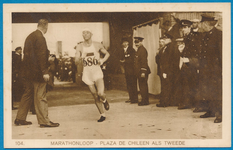 OLYMPIADE Amsterdam 1928 kaart marathon  Plaza uit Chili *