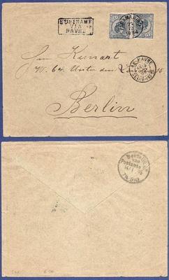 SURINAME brief 1894 Paramaribo naar Duitsland