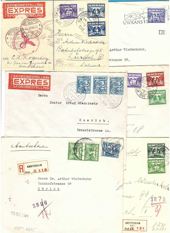 NEDERLAND Joodse correspondentie 1941-42 aan advocaat Wiederkehr