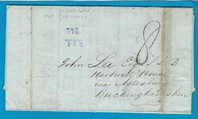 GUATEMALA entire 1846 San Jeronimo over Belize to England