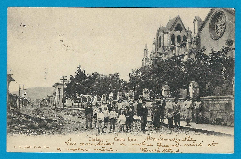 COSTA RICA PPC Cartago 1906 Herida to Belgium