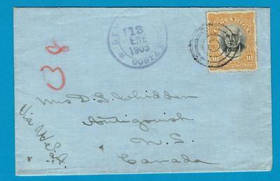 COSTA RICA cover 1906 Limon to Canada