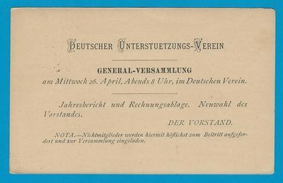 COSTA RICA postal card 1899 German society