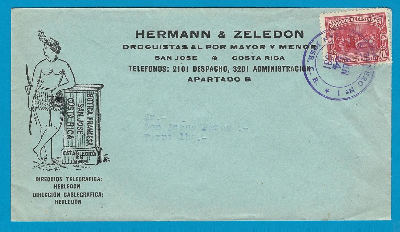 COSTA RICA cover 1931 San José Buzonero No 1