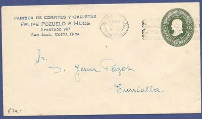 COSTA RICA envelope with private printing and slogan cancel