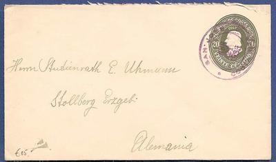 COSTA RICA envelope  1933 San José to Germany