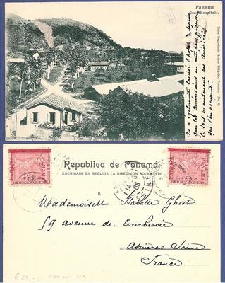 PANAMA PPC 1905 Canal Hospitals to France