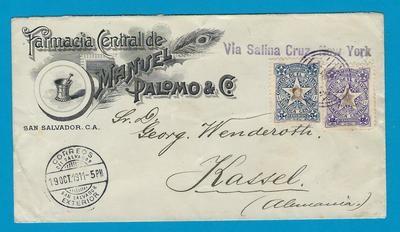 EL SALVADOR cover1911 San Salvador to Germany