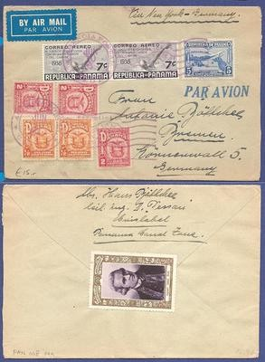 PANAMA air cover 1933 Colon to Germany