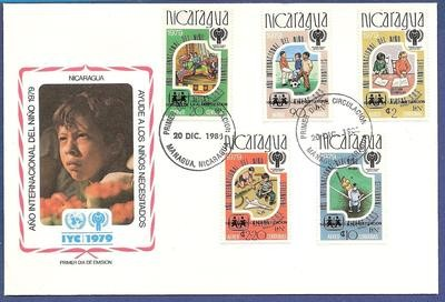NICARAGUA FDC 1980 Managua with Sandinista overprint