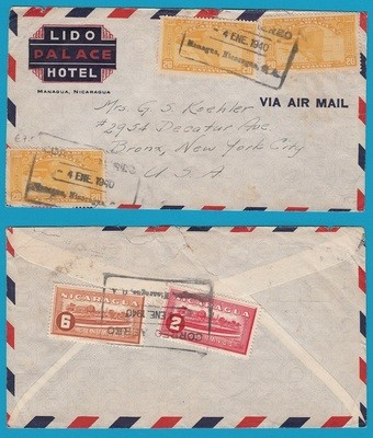 NICARAGUA air cover 1940 Managua to USA