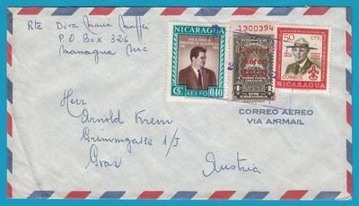 NICARAGUA cover 1962 Managua to Austria
