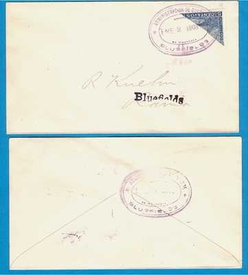 NICARAGUA cover 1903 Bluefields with bisect to Rama