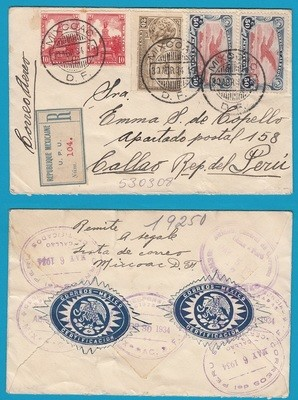 MEXICO R air cover 1934 Mixcoac to Peru