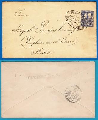 MEXICO envelope 1897 Nogales to DF