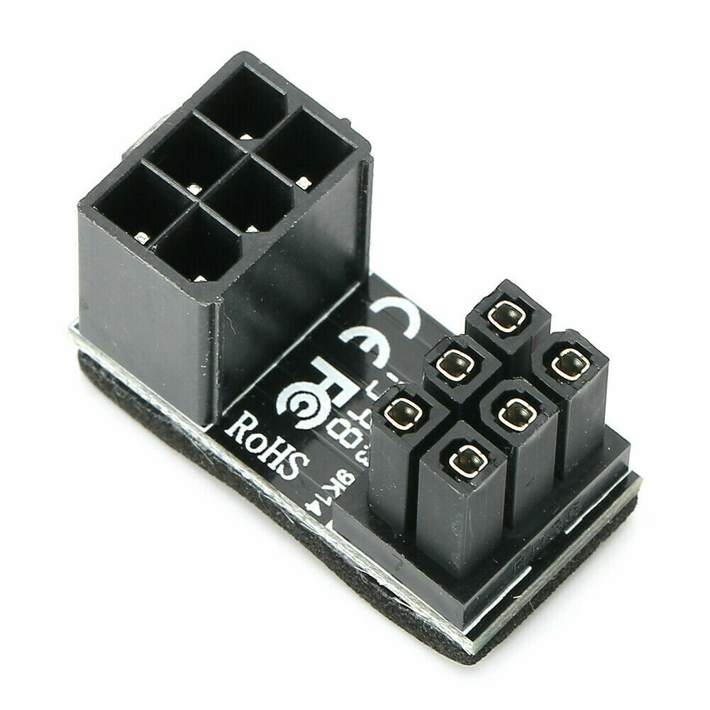 ATX 8-pin socket on 8- or 6-pin plug 180 °