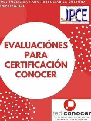 Evaluaciones para Certificación CONOCER