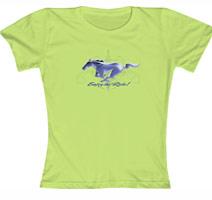 """Mustang Ladies """"Enjoy the Ride!"""" Green"""