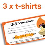3 x t-shirts