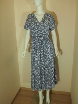 Φόρεμα μακρύ viscose γαλάζιο