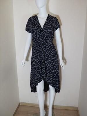 Φόρεμα ασύμμετρο viscose μαύρο