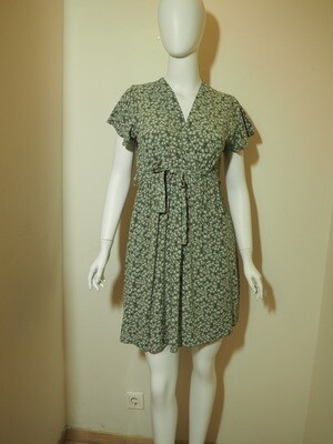 Φόρεμα κοντό viscose χακί