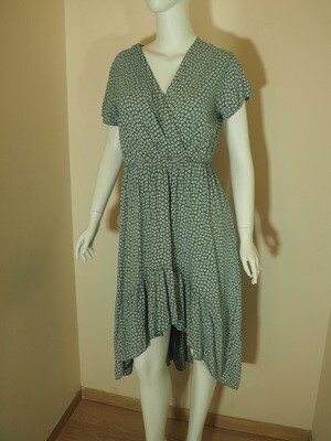 Φόρεμα ασύμμετρο viscose  μέντα