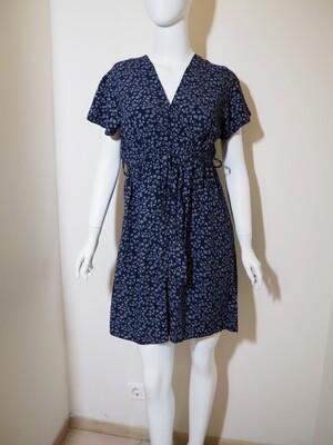 Φόρεμα κοντό viscose μπλε