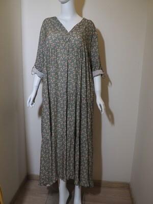 Φόρεμα μάξι viscose χακί