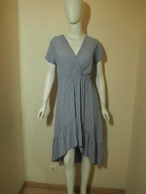 Φόρεμα ασύμμετρο viscose  γαλάζιο