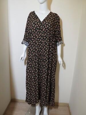 Φόρεμα μάξι viscose μαύρο