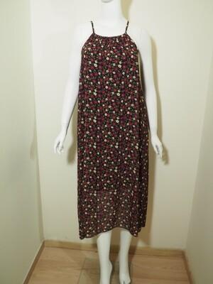 Φόρεμα μακρύ βιολετί-μαύρο
