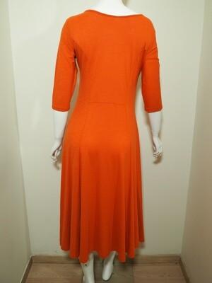 Φόρεμα μακρύ cotton πορτοκαλί