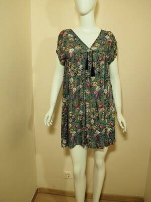 Φόρεμα κοντό viscose μέντα