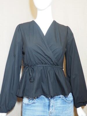 Μπλούζα cotton μαύρη