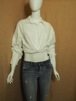 Μπλουζοπουκάμισο cotton λευκό