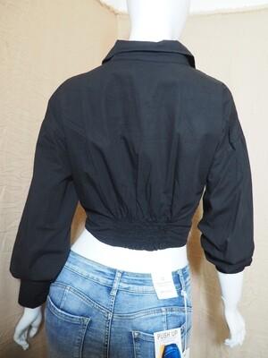 Μπλουζοπουκάμισο cotton μαύρο
