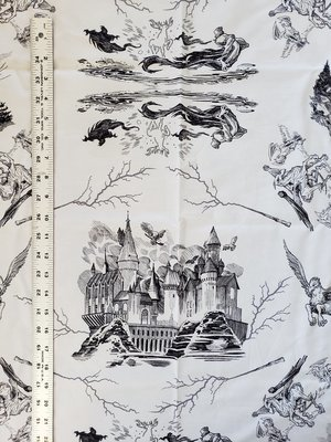 Woven, Cotton: Hogwarts Sketches