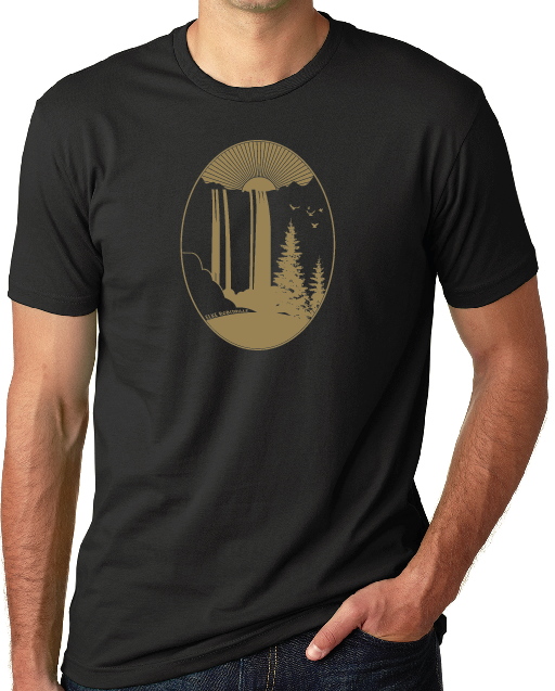 Elke Robitaille Waterfall T-Shirt in Black (Unisex)
