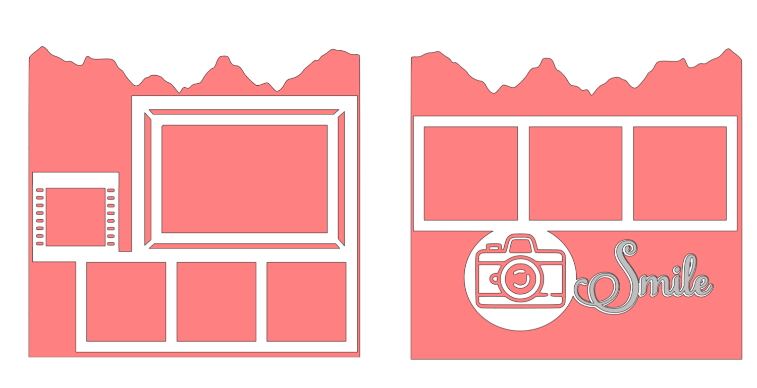 Smile! Two Page Simple SVG