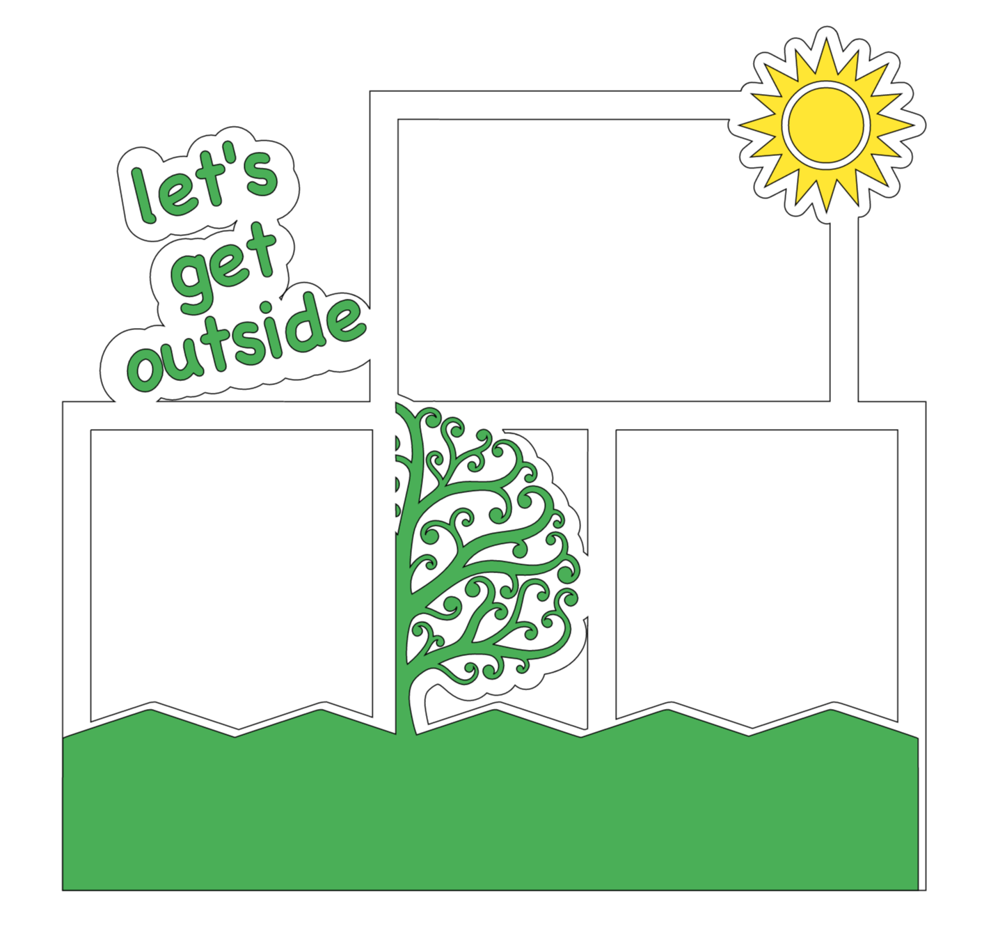 Let's Get Outside One Page Simple SVG