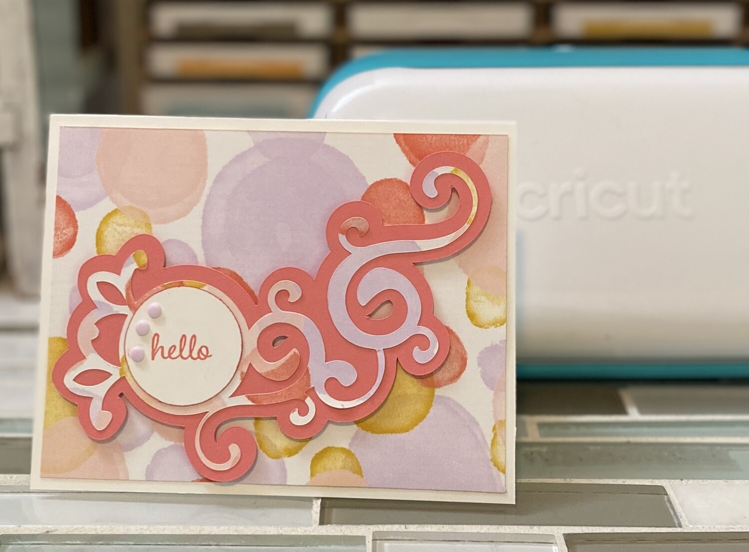 Ready To Stamp Embelly: Flourishes and Circle Simple