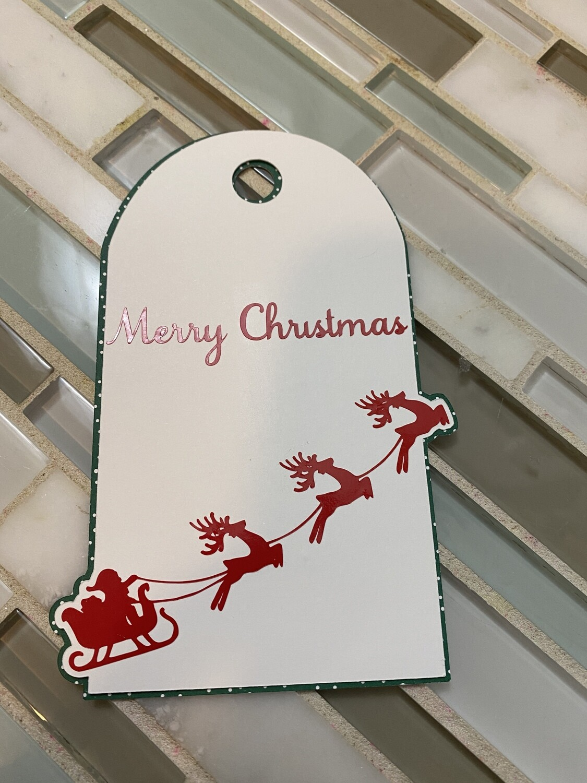 Santa Merry Christmas Tag