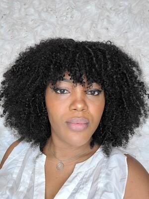 Kinky Curly Bang Wig