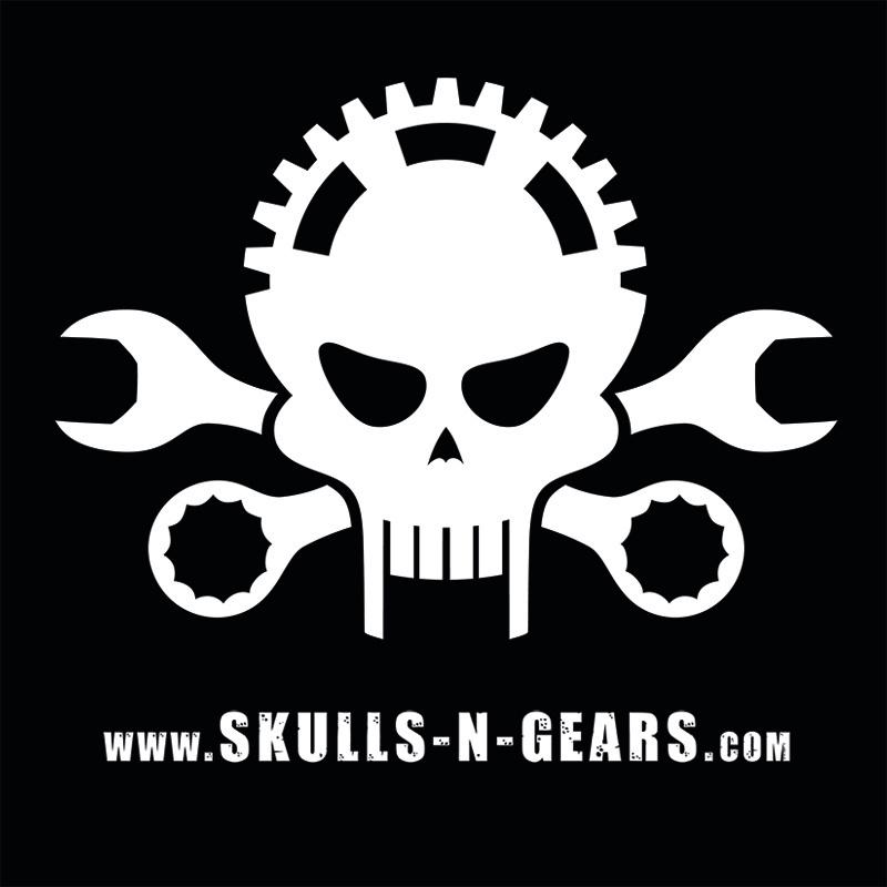 skulls n gears - Button