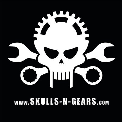 skulls n gears - Button