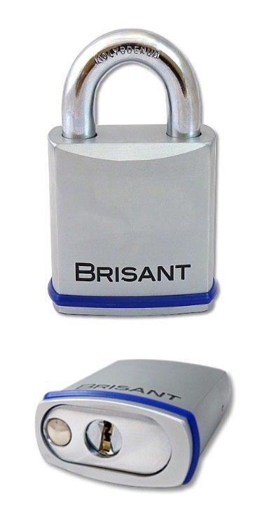 Brisant Padlocks - 70mm Body - Molybdenum Shackle- euro cylinder not included