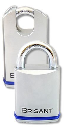 Brisant Padlocks - 61mm Body - Stainless Steel Shackle- euro cylinder not included