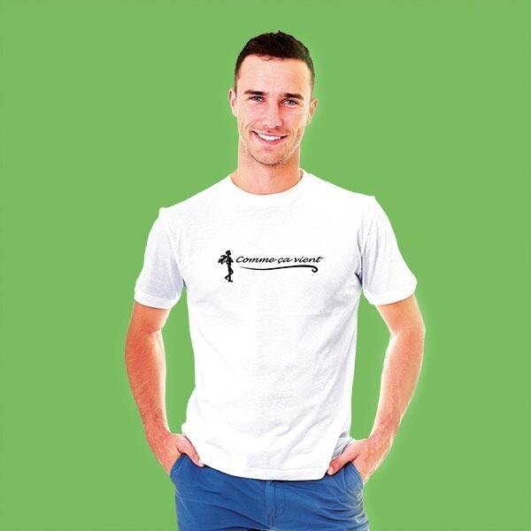 T-shirt homme blanc comme ça vient